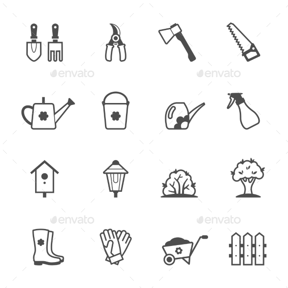GraphicRiver Garden Tools and Accessories 11089902