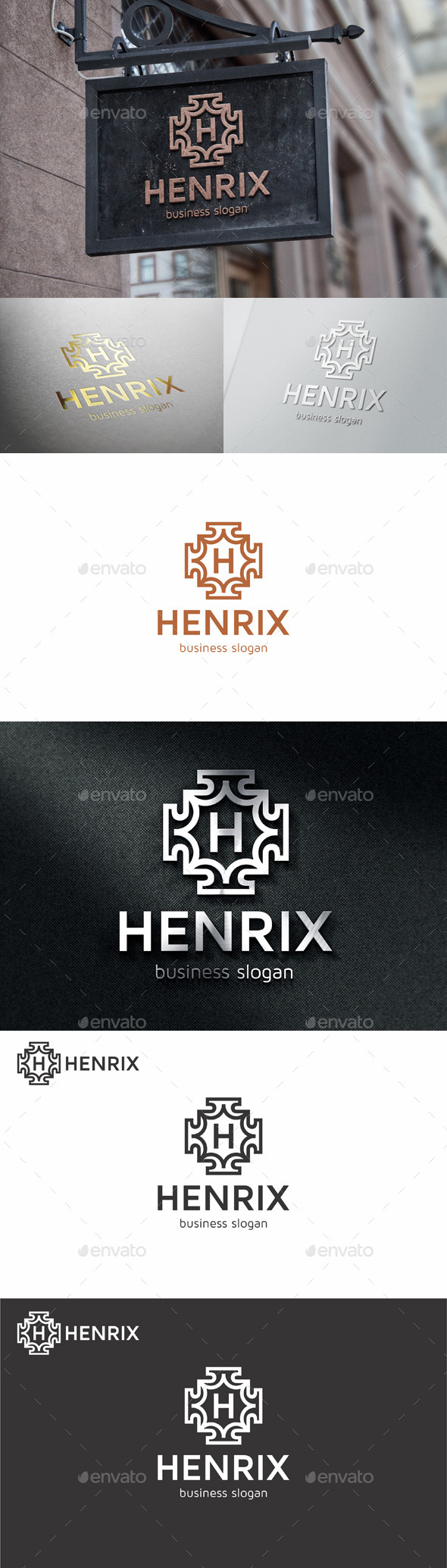 GraphicRiver Badge Crest Logo Template Henrix 11089949