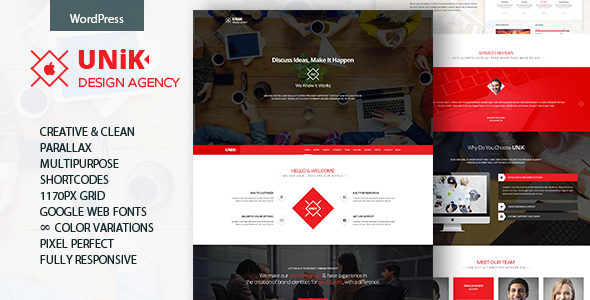 ThemeForest Unik Creative Multipurpose WordPress Theme 11090107