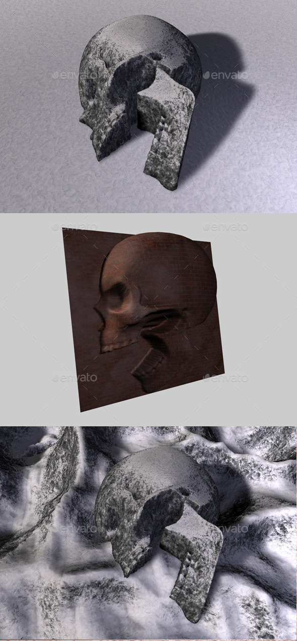 3DOcean Skull Depth Map 4 11090154