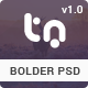 Bolder - Trendy One Page PSD Template - ThemeForest Item for Sale