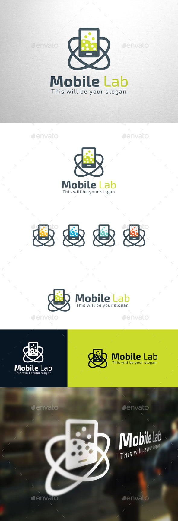 GraphicRiver Mobile Lab Logo 11090179