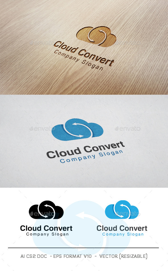 GraphicRiver Cloud Convert Logo 11090284