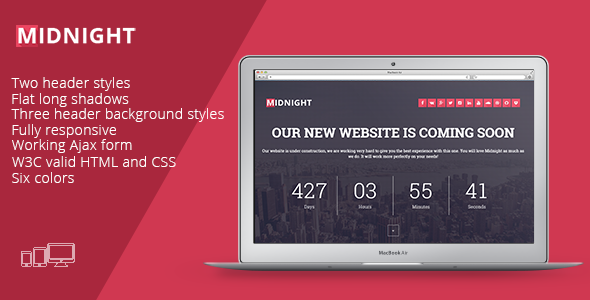 ThemeForest Midnight-Coming Soon Page 11017501