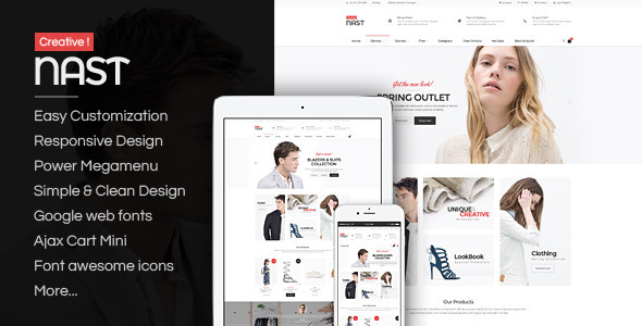 ThemeForest NastCreative Responsive Magento Fashion Themes 11090421