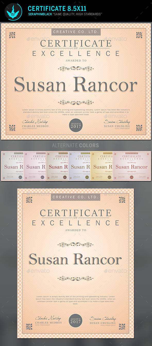 GraphicRiver Certificate Template 11090448