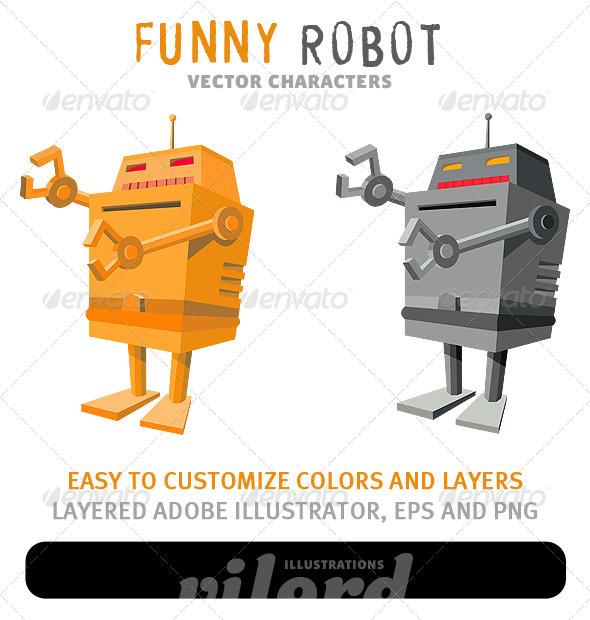 Funny Robot Mascot