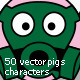 50 Cartoon Pig Characters - GraphicRiver Item for Sale