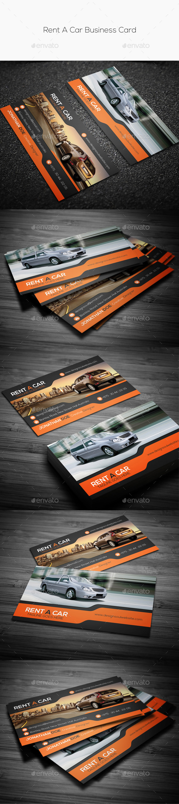 GraphicRiver Rent A Car Business Card 11052096