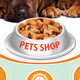 Metal Dog Food Bowl Three Perspectives - GraphicRiver Item for Sale