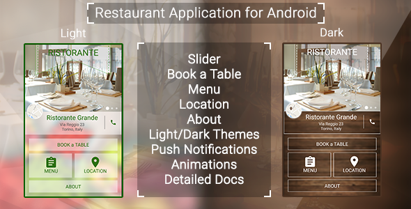 Restaurant App with Push Notifications