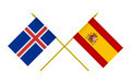 Flags of Iceland and Spain - PhotoDune Item for Sale