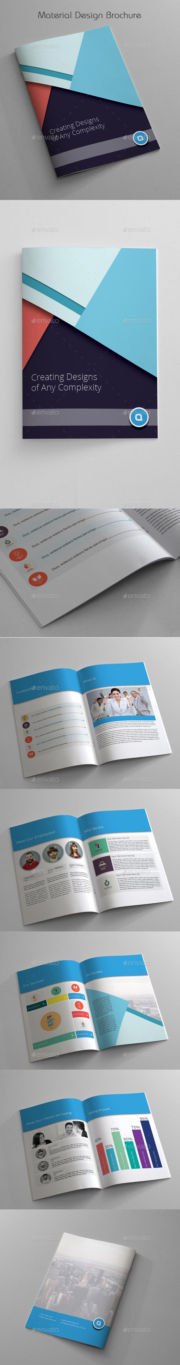 GraphicRiver Material Design Brochure 11090791
