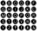 Graphic Black and White Alphabet from Vintage Typewriter Keys - PhotoDune Item for Sale
