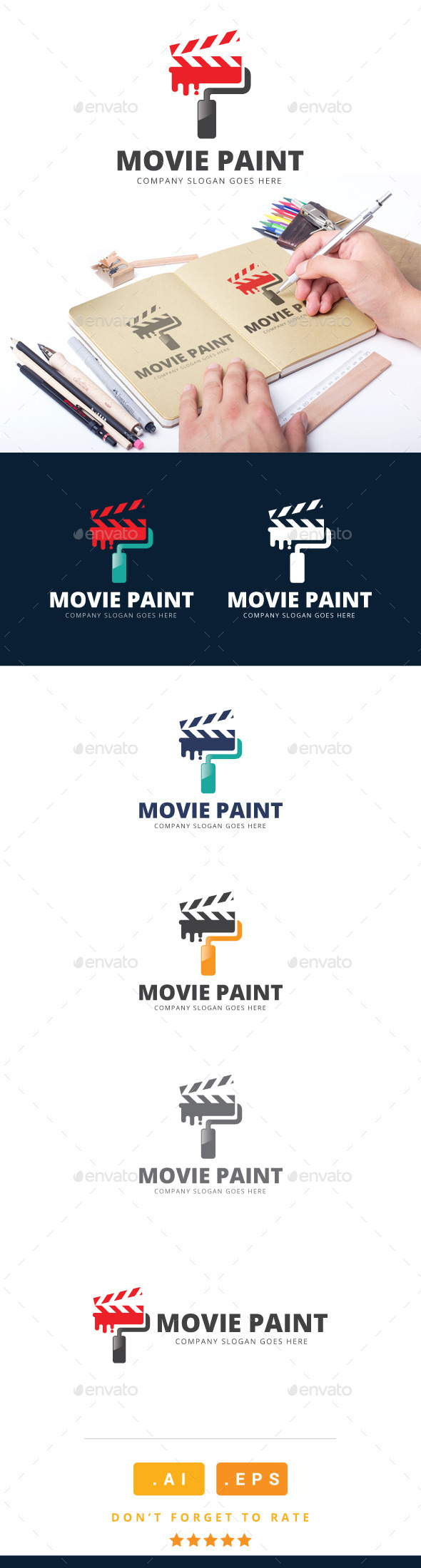 GraphicRiver Movie Paint Logo 11091139