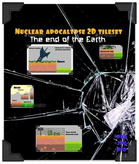 GraphicRiver Nuclear apocalypse 2D tileset platform game PIXEL 11033363