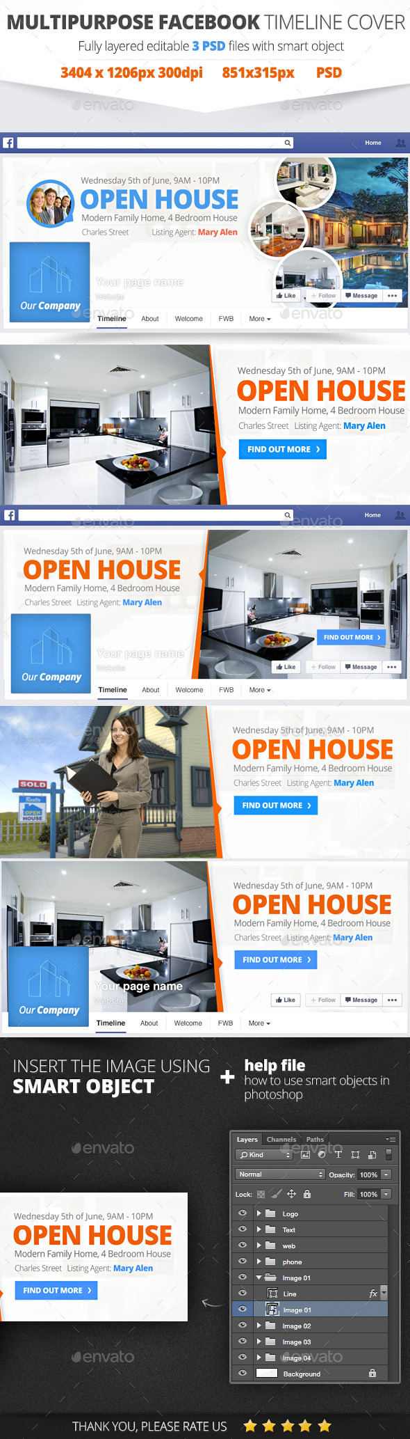GraphicRiver Real Estate Facebook Cover 11091412