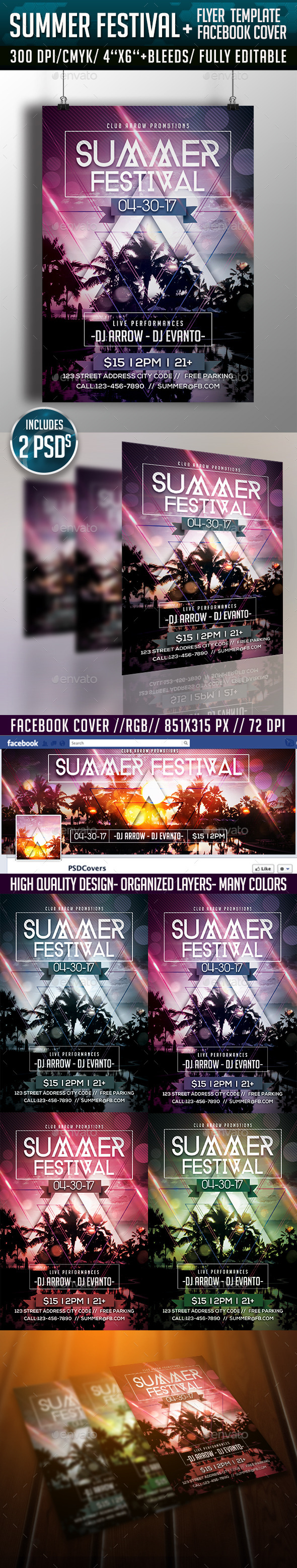 Summer Festival Flyer Template