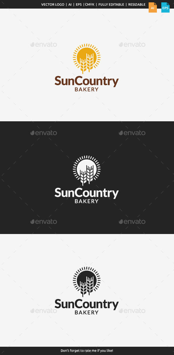 GraphicRiver Sun Country Bakery Logo 11093047