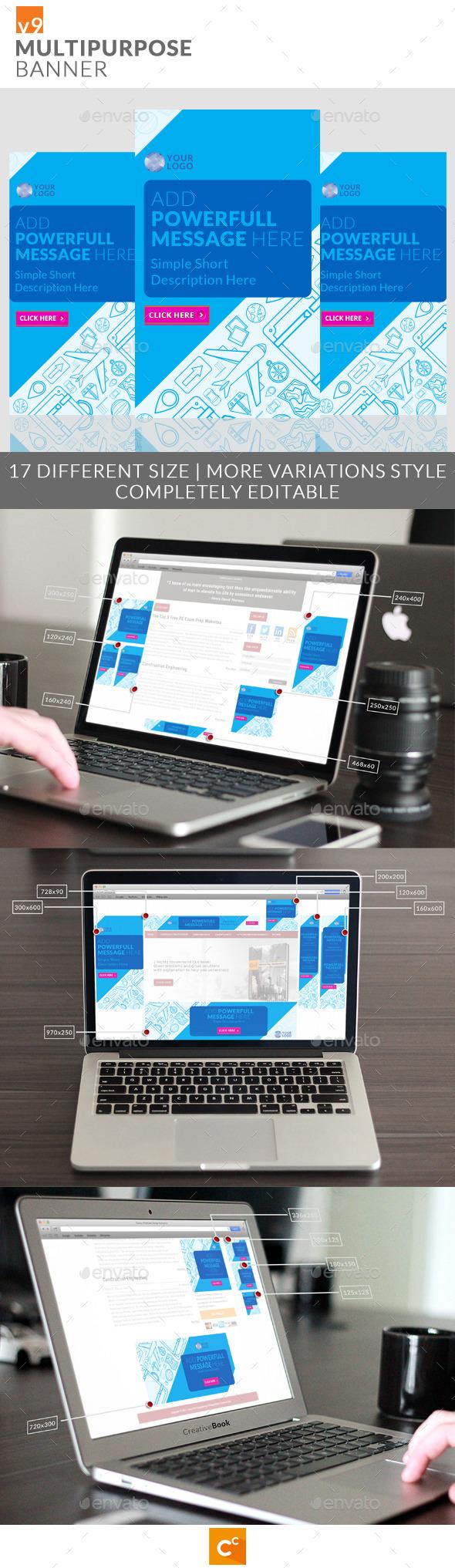 GraphicRiver Multipurpose Banner Ads v9 11093053