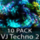 VJ Abstract Techno Energy Dance 2 - 10 Pack - VideoHive Item for Sale