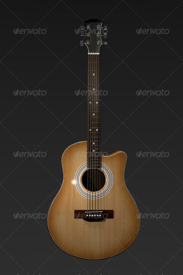3DOcean Acoustic Guitar 137347
