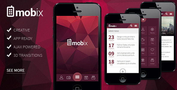 ThemeForest Mobix HTML Mobile Template 11093274