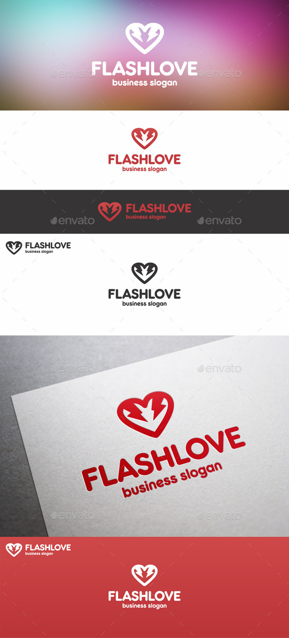 GraphicRiver Electric Flash Love Thunder Logo 11093280