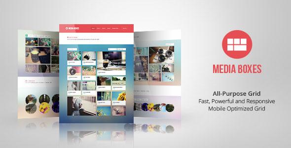 Media Boxes Portfolio - Responsive Grid - CodeCanyon Item for Sale