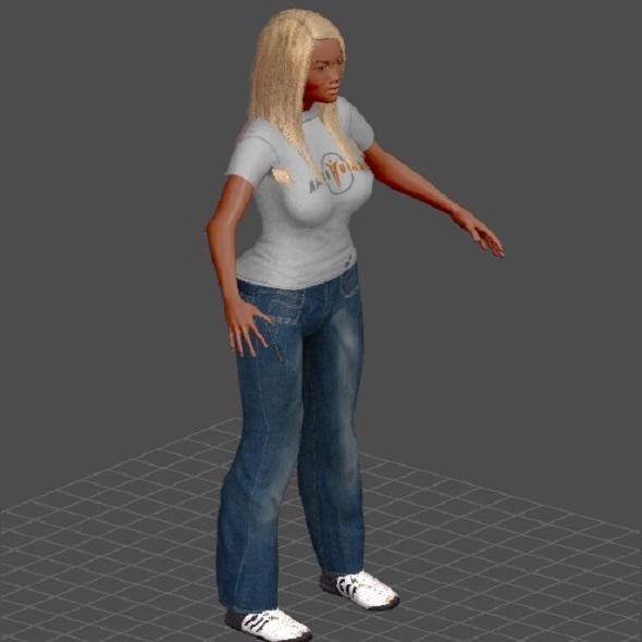 barbie 3d model - 3DOcean Item for Sale