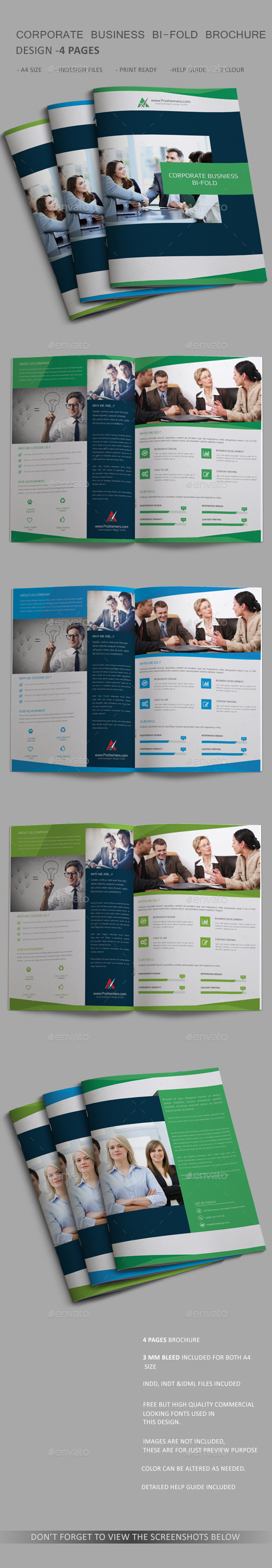 GraphicRiver Corporate Bi-fold Brochure 4 Page 11093694