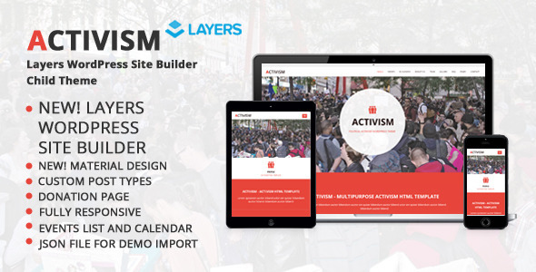 ThemeForest Activism LayersWP WordPress Child Theme 11093723