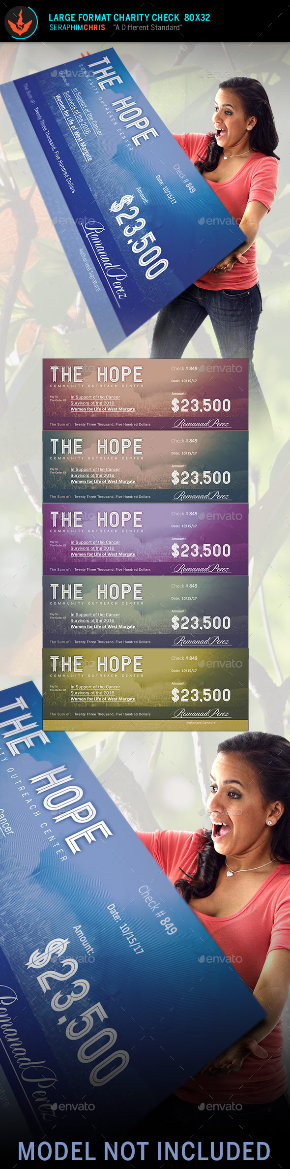 GraphicRiver Hope Large Format Charity Check Template 11093735