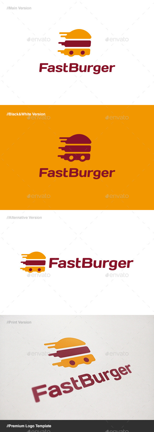 GraphicRiver Fast Burger Logo 11093905