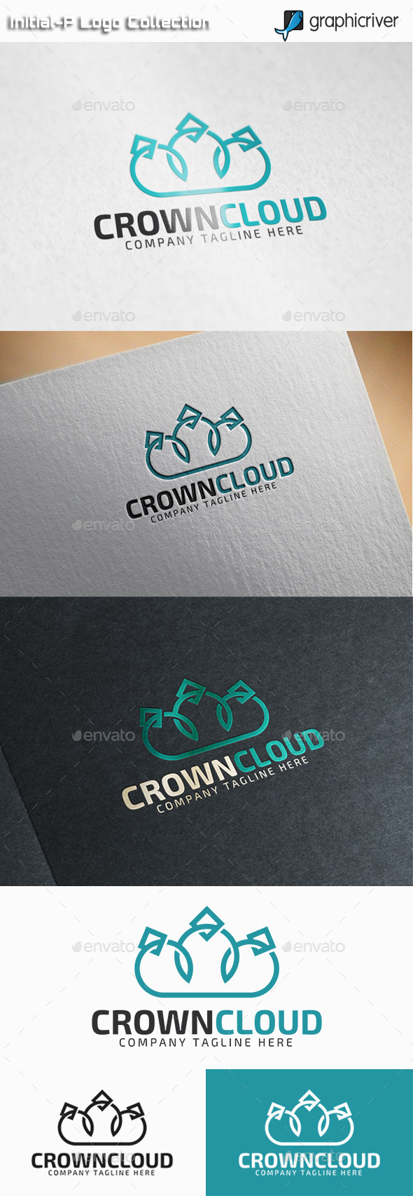 GraphicRiver Crown Cloud Royal Cloud logo 11093975