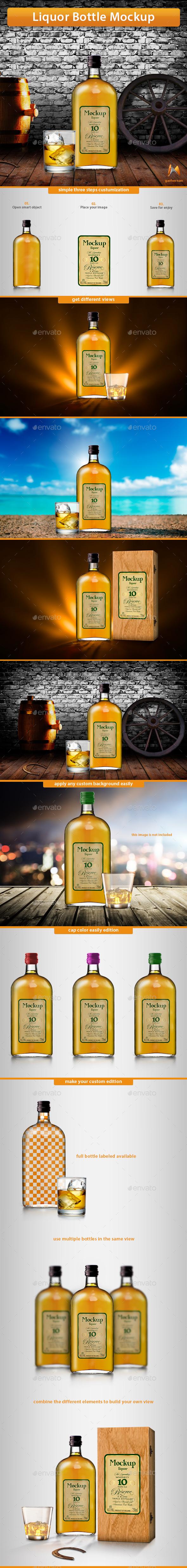 GraphicRiver Liquor Bottle Mockup 11094007