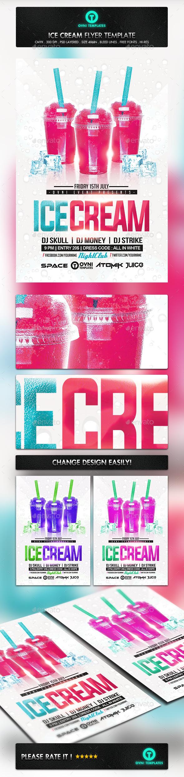 GraphicRiver Ice Cream Summer Flyer Template 11094140