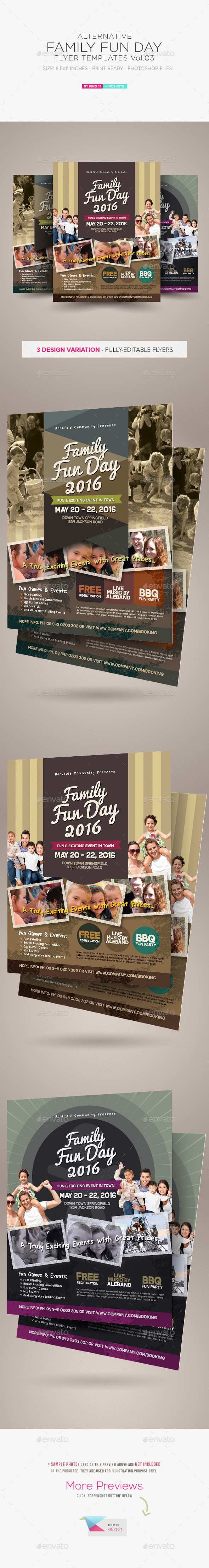 GraphicRiver Alternative Family Fun Day Flyers vol.03 11094141