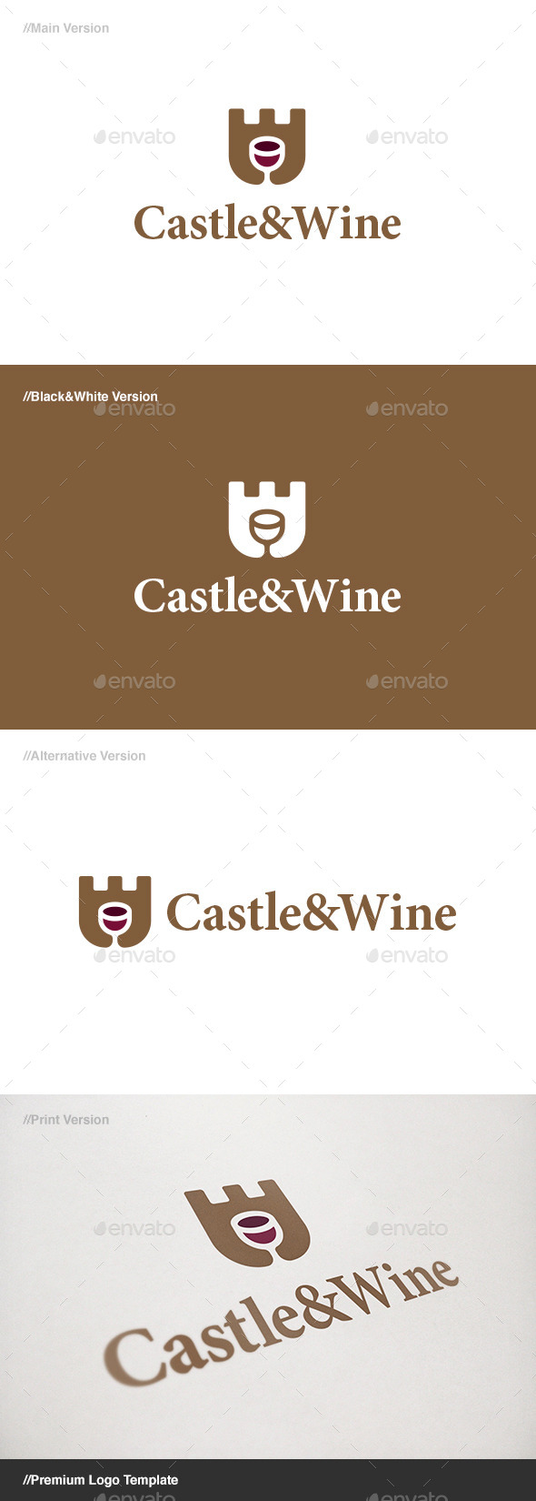 GraphicRiver Castle & Wine Logo 11094227