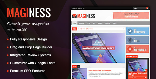 Maginess – Flexible Magazine WordPress Theme - News / Editorial Blog / Magazine