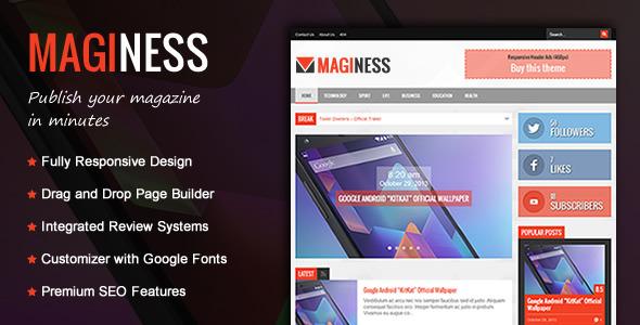 Maginess – Flexible Magazine WordPress Theme