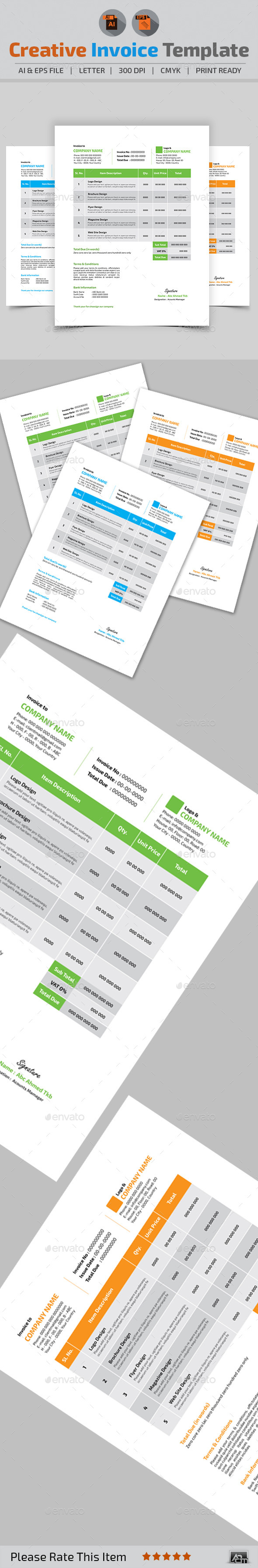 GraphicRiver Creative Invoice Template 10983281