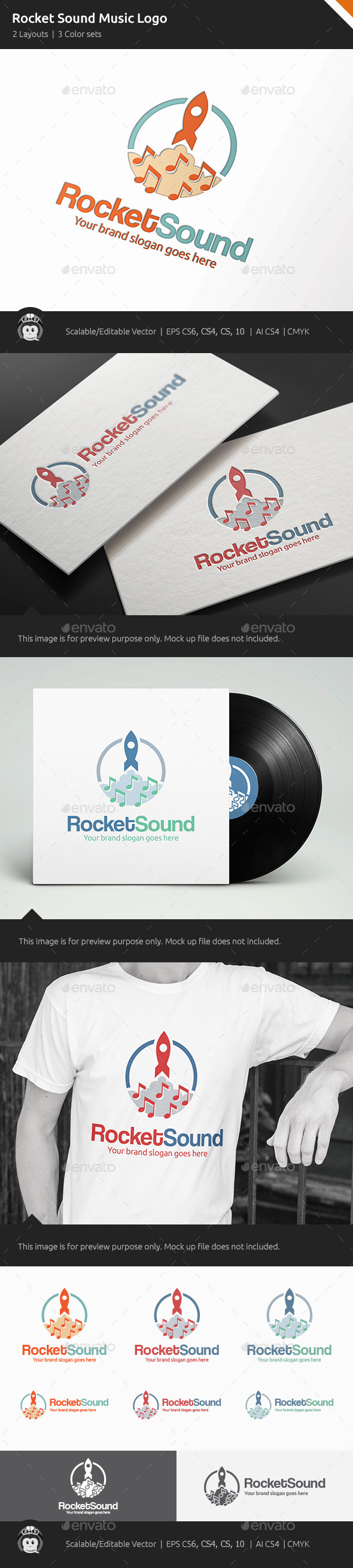 GraphicRiver Rocket Sound Music Logo 11094327