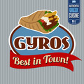 Gyros sticker or label  - PhotoDune Item for Sale