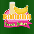 Banana juice sticker or label - PhotoDune Item for Sale