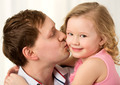 Daddy kissing beautiful little daughter - PhotoDune Item for Sale