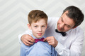 Father adjusting sons bowtie - PhotoDune Item for Sale