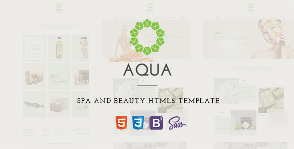 ThemeForest Aqua Spa and Beauty HTML5 Template 11086808