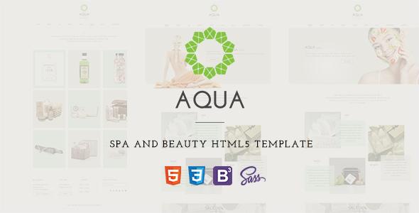 ThemeForest Aqua Spa and Beauty HTML5 Template 11086808