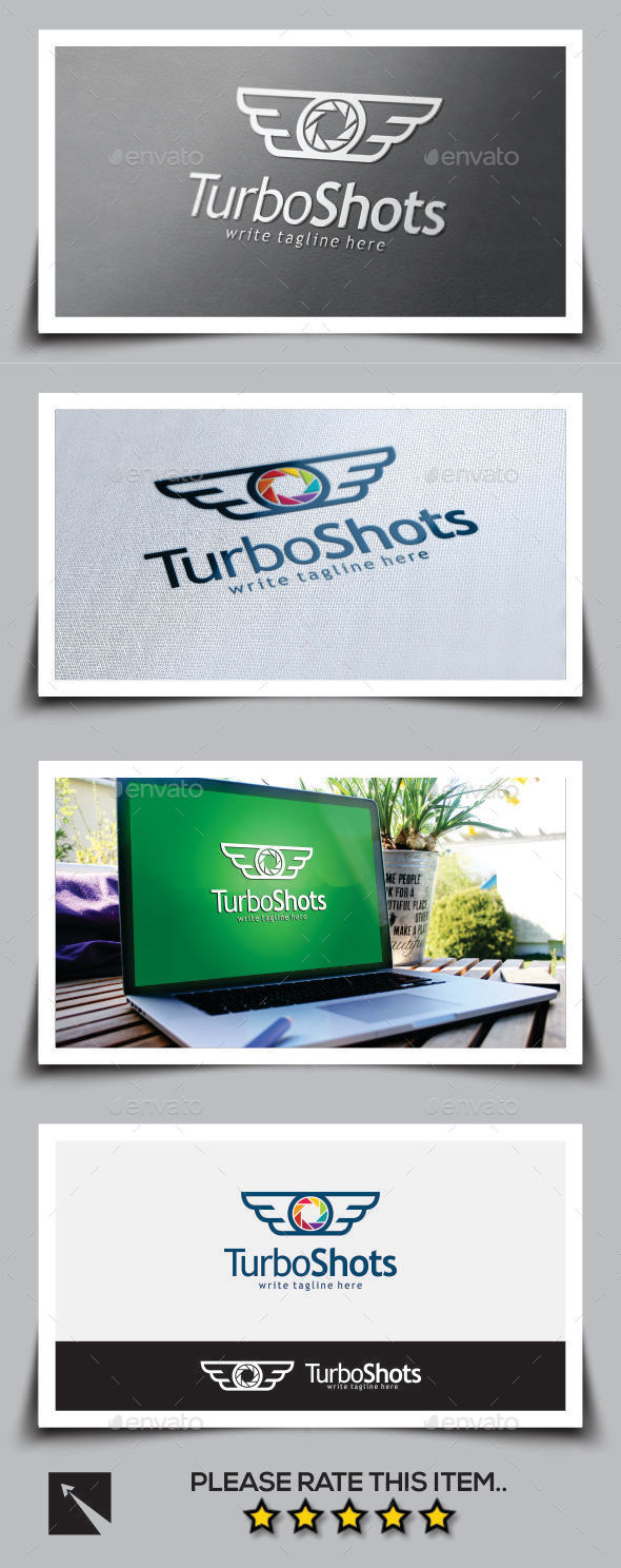 GraphicRiver Turbo Shot Wing Logo Template 11095289